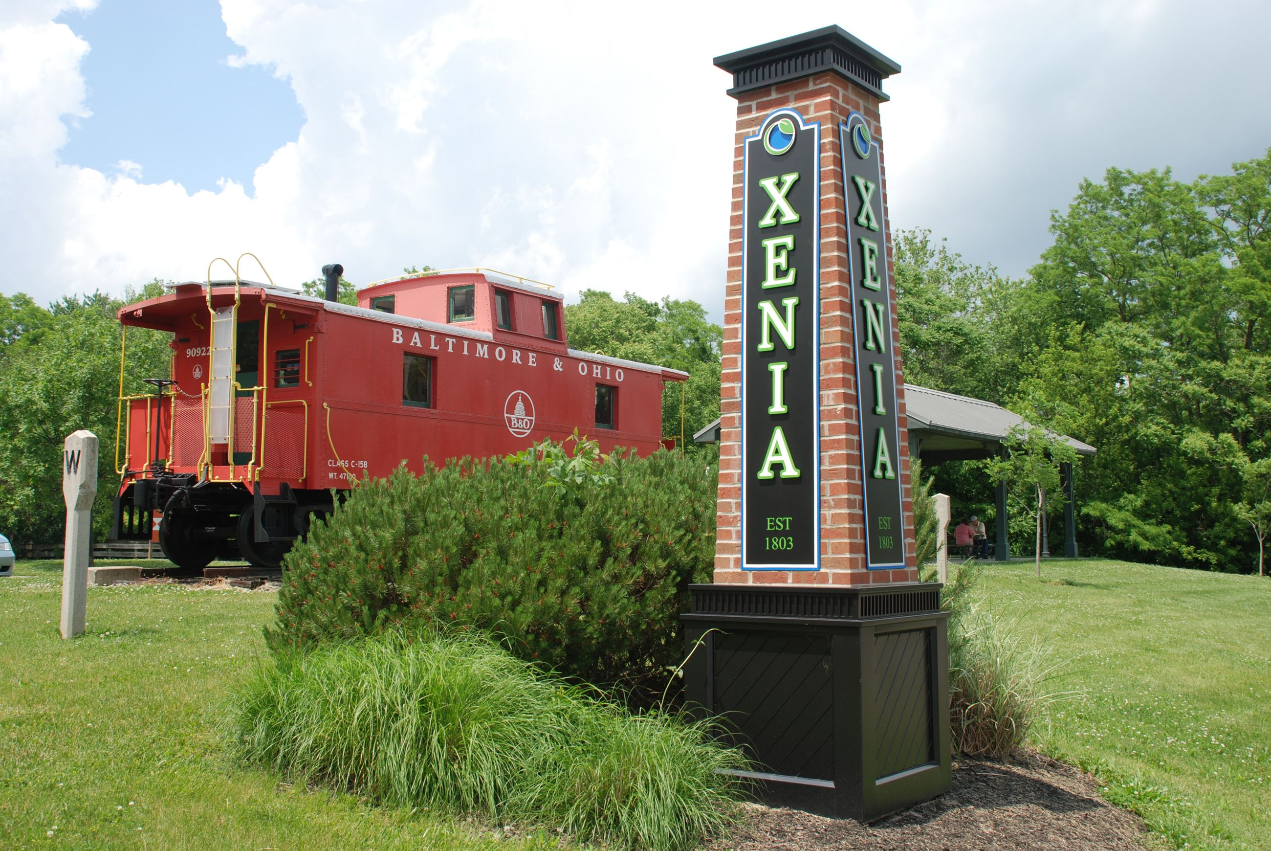 Caboose with Xenia sign