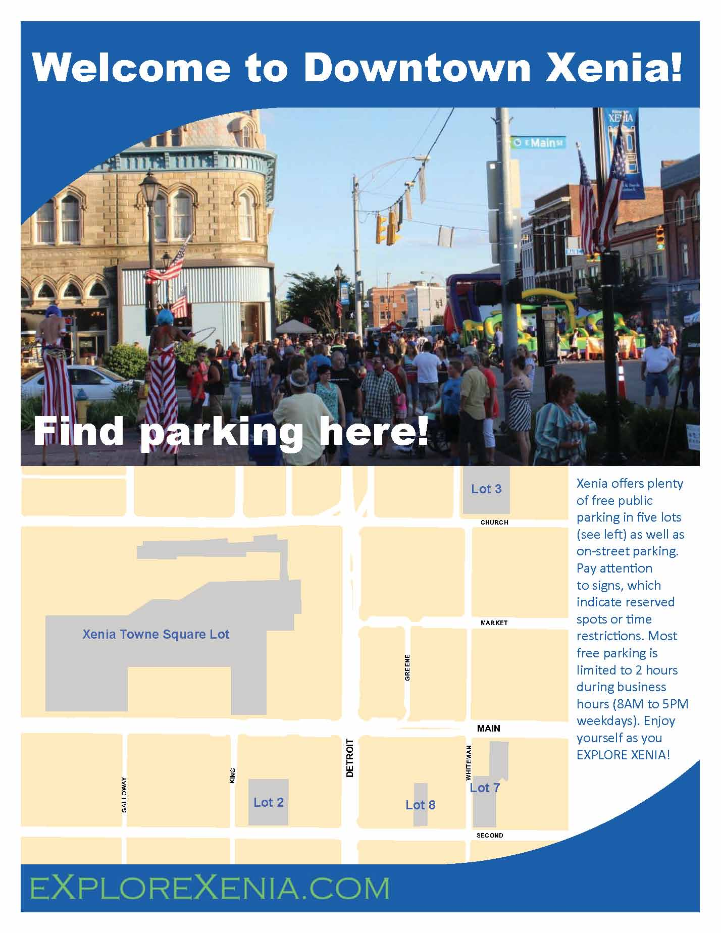 downtown parking brochure thumb