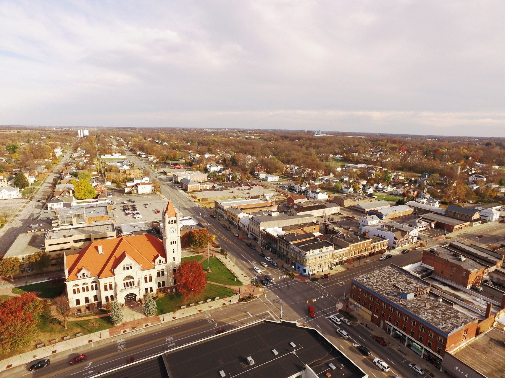 Sky View of Downtown Xenia