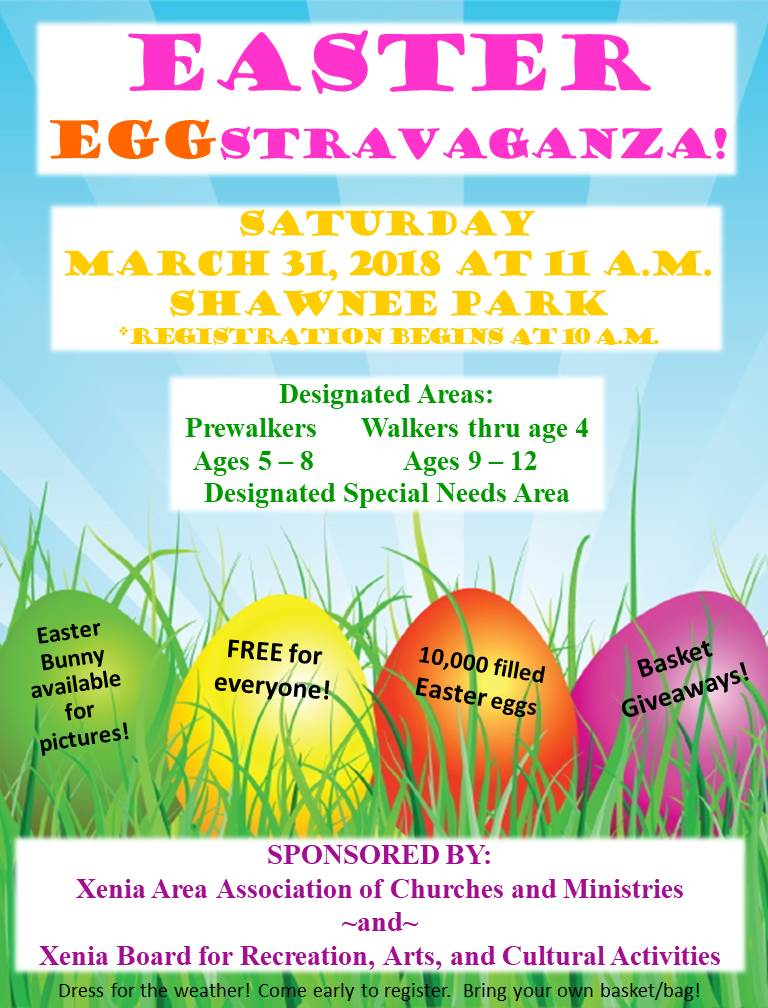 easter egg hunt flyer 2018