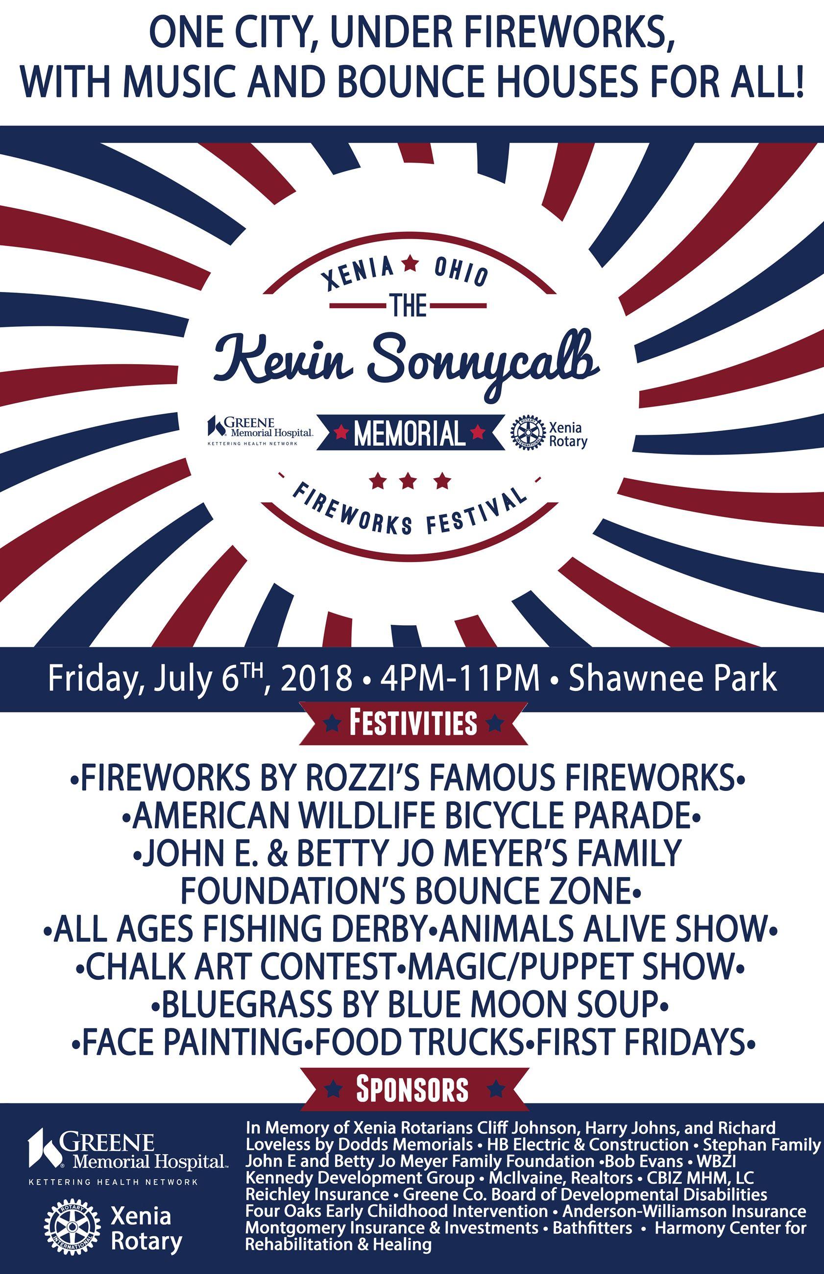 Kevin Sonnycalb Fireworks Festival   Xenia, OH