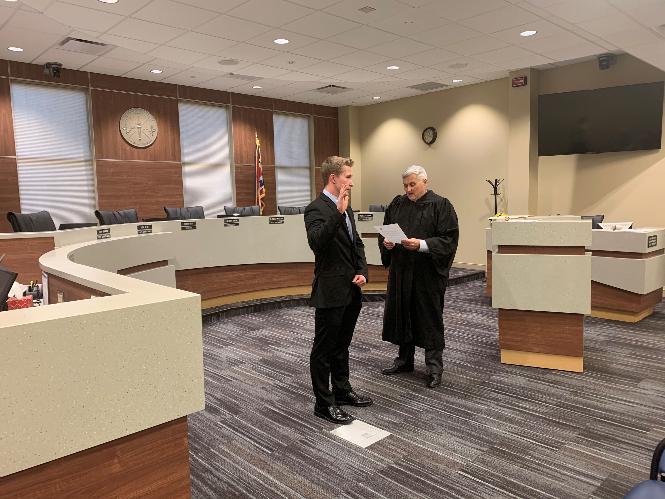 Jordan Brennaman swearing-in ceremony