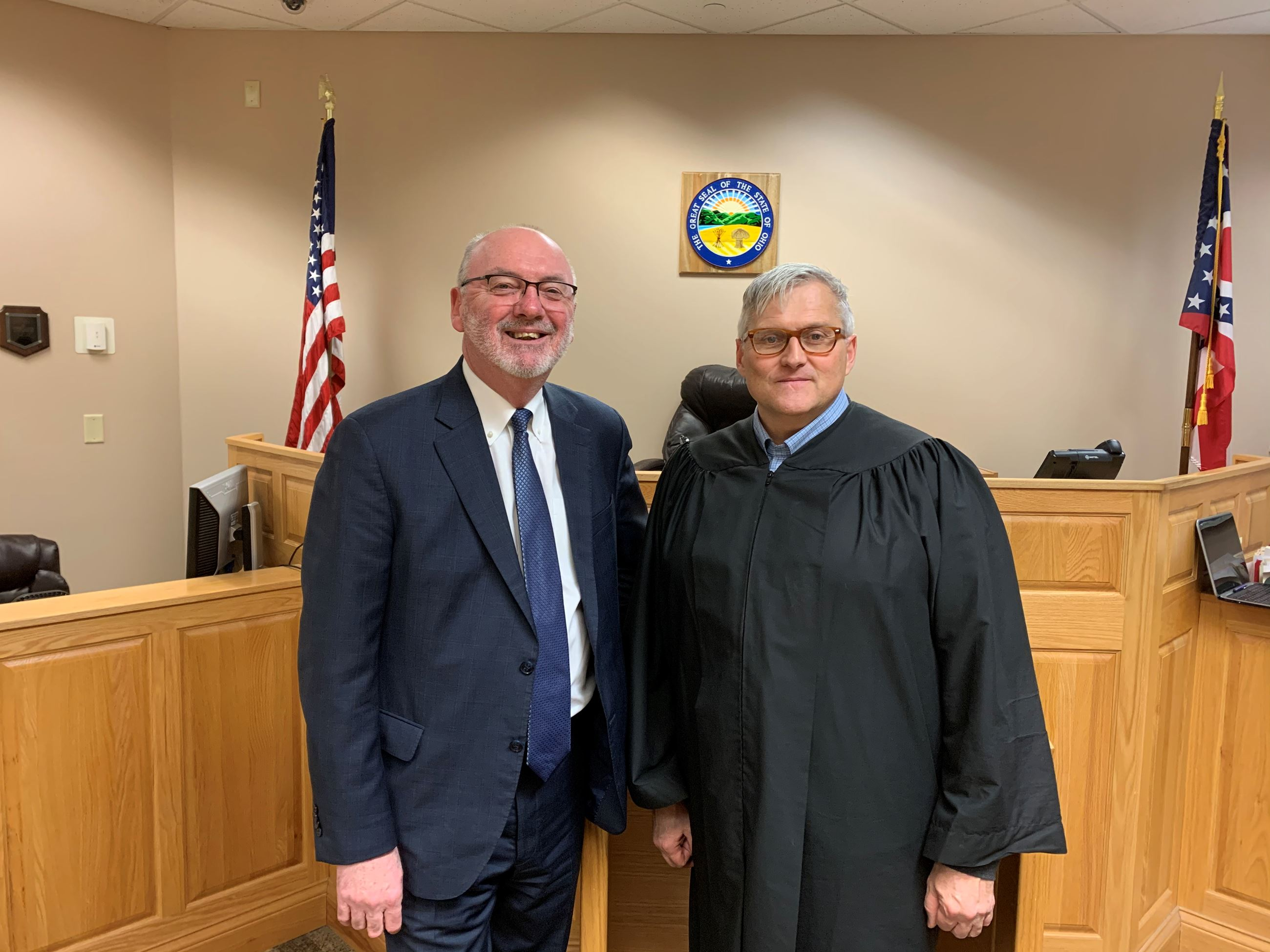 Judge Ron Lewis, Clerk of Court Steve Pierson