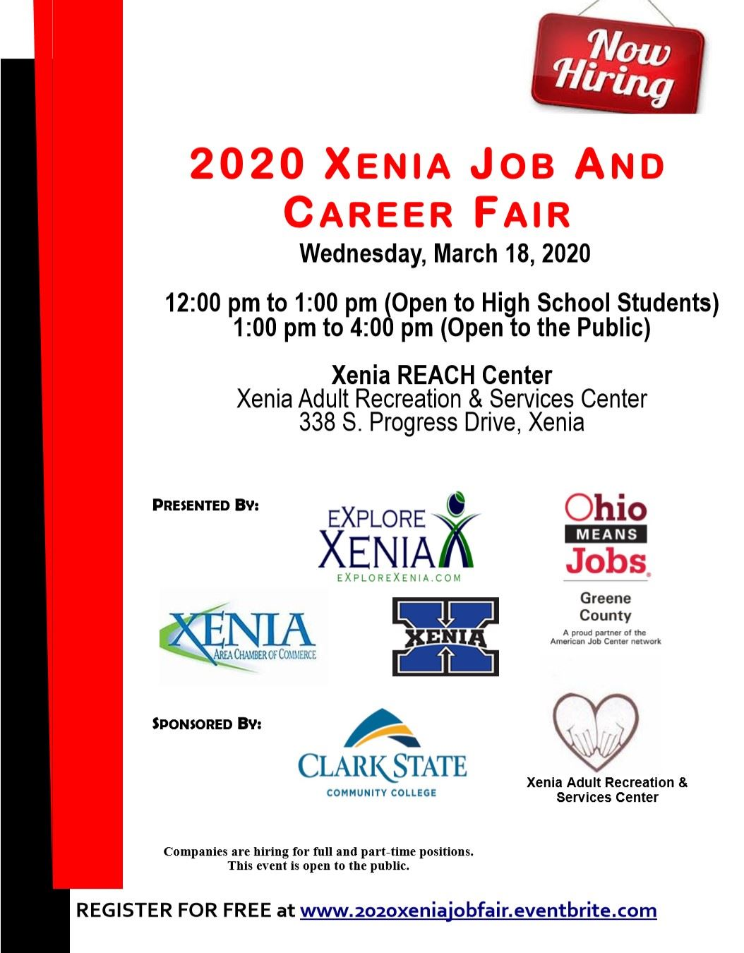 2020 Xenia Job and Career Fair