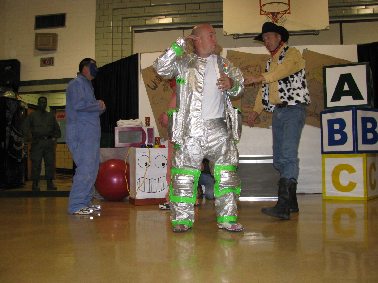 Man Dressed up in Space Suite
