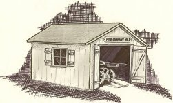 Fire House Drawn by Lt. Tim Spradlin