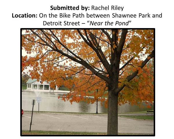 Rachel Riley On the Bike Path Between Shawnee Park