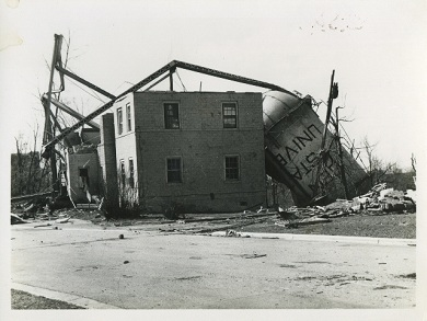 Damaged Central State Building