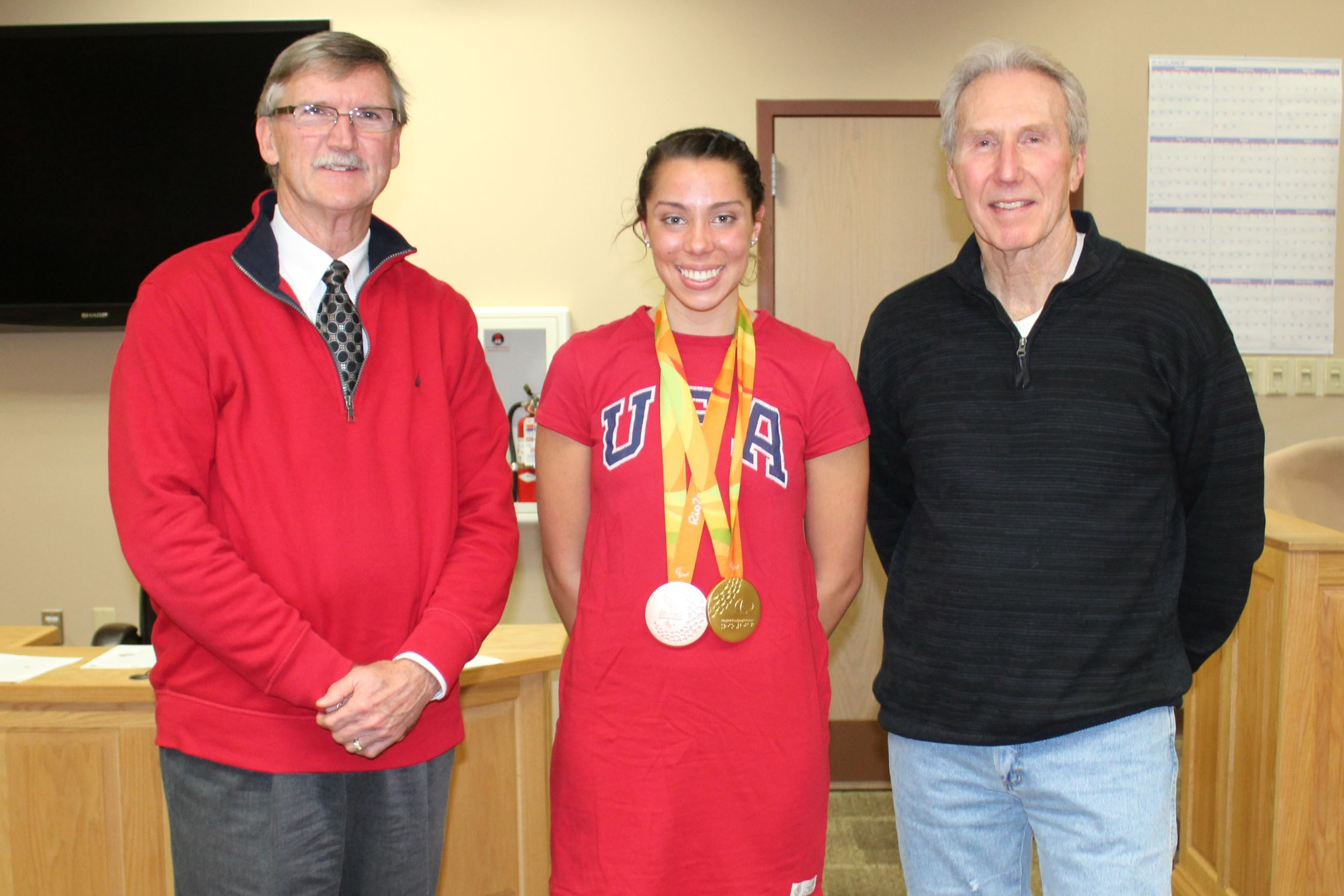 Gold medalist, Paralympian Grace Norman was XMC's Christmas staff speaker.