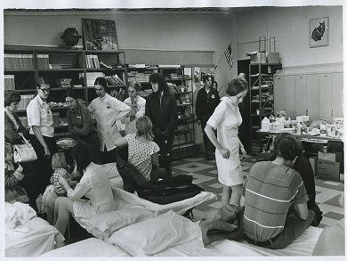 Nurses Tending to Injured Survivors